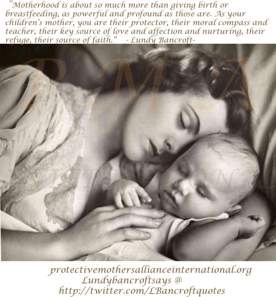 Lundy Bancroft Quote Motherhood